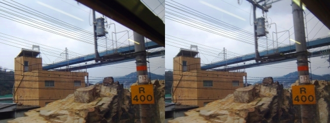 JR山陽本線からの尾道の景観 2019.3.23①(交差法)