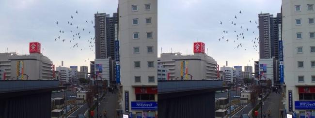 JR福山駅からの景観 2019.3.23(平行法)