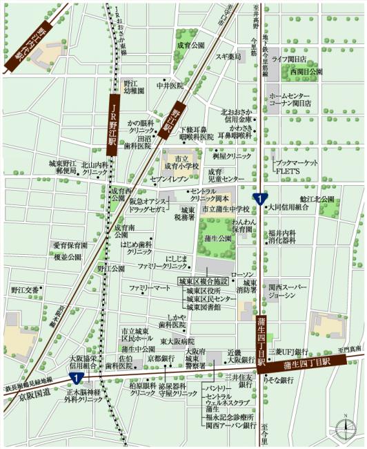 自宅周辺MAP