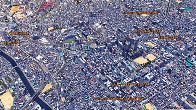 周辺アクセス Google Earth