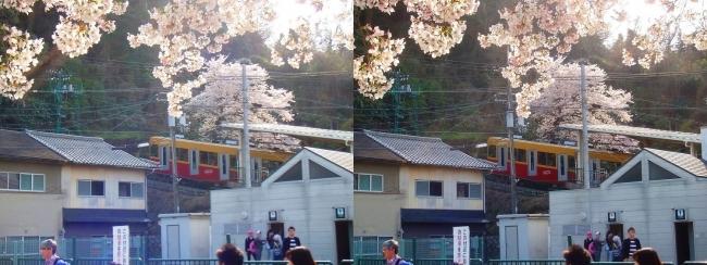 京阪 八幡市駅 男山ケーブル(交差法)