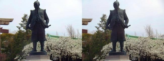 豊国神社 豊臣秀吉像(交差法)