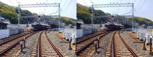 京阪 八幡市駅(交差法)