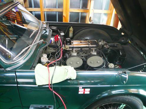 TR4のバッテリー