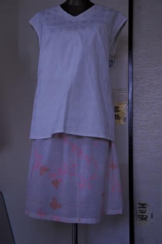 着物リメイク 長襦袢地でペチコート