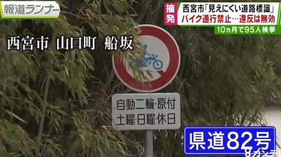 標識 兵庫県警 ネズミ取り 道路交通法 県道82号線 西宮