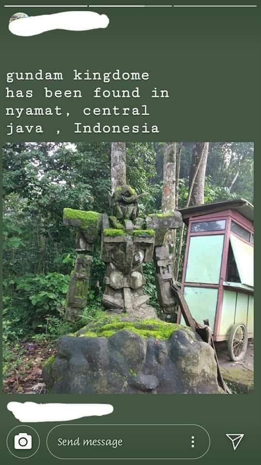 ガンダム 石像 インドネシア ニャマト