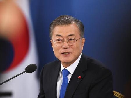 韓国・文在寅大統領「朝鮮半島の平和経済は世界で最も魅力的な市場になる」 青瓦台に日系企業含む外資系56社を招き、韓国への投資を呼びかける