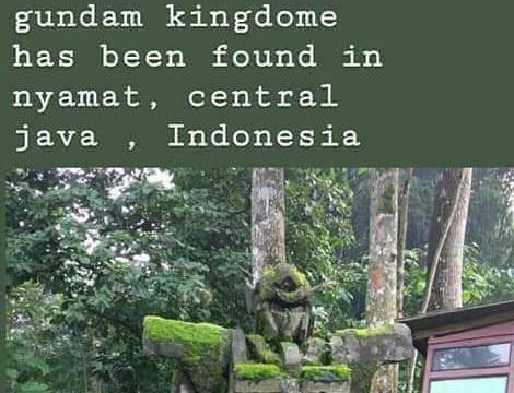 インドネシア中部で、どう見てもガンダムな石像が発見される(画像) … 「ジャワのニャマトでガンダム王国を見つけた!」「地元の人達はマジャパヒト王国時代に作られたものだと言っていました」