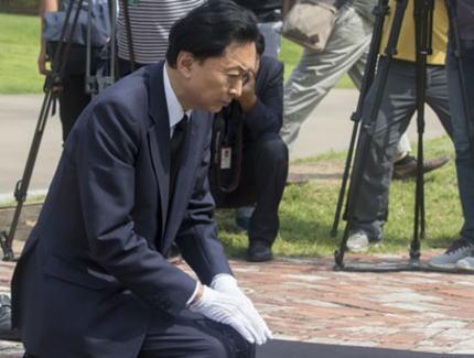 鳩山由紀夫元総理、韓国・済州島で開かれたフォーラムで「日中韓3カ国が統合のための葛藤を解消するためには、日本が謝罪する気持ちを表出することが重要だ。相手国がこれ以上やらなくてもいいという時まで心から繰り返し謝罪しなければならない」