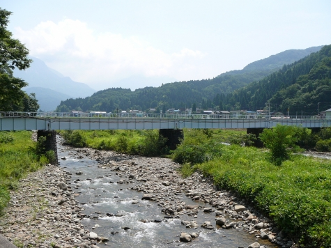 JR大糸線 根知川橋梁