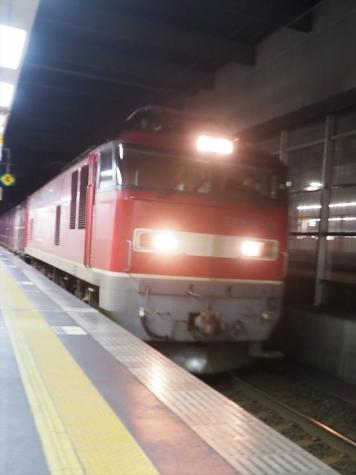 JR貨物 EF510電気機関車牽引の貨物列車【金沢駅】
