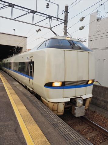 JR北陸本線 681系 特急「ダイナスター1号」【朝の金沢駅】