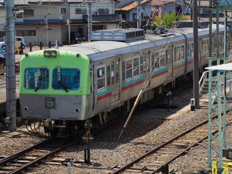 上毛電気鉄道 700形 電車 717F【大胡駅】