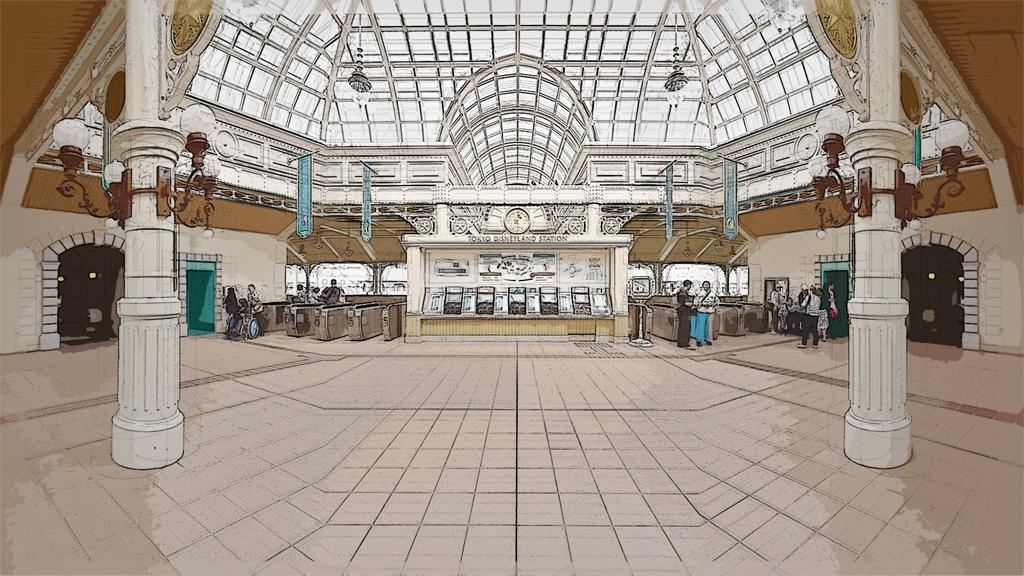 改札外(東京ディズニーランド・ステーション)
