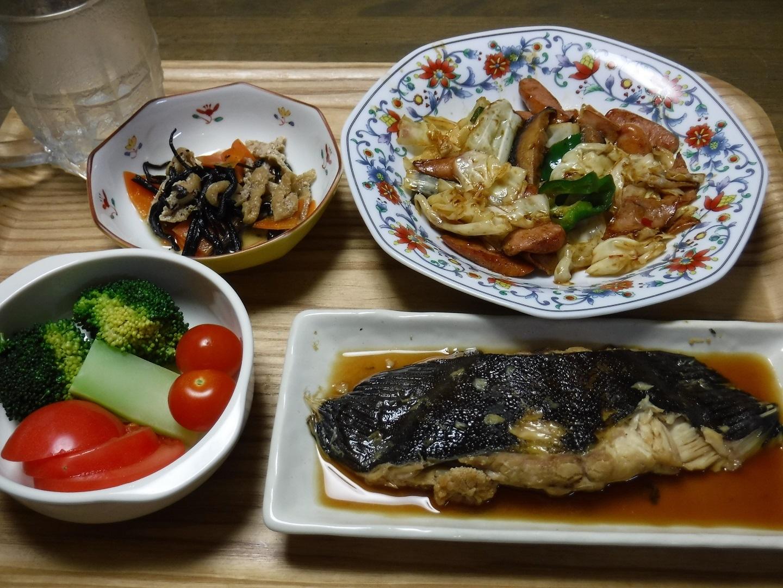 ブログ  なめたカレイの夕ご飯.jpg