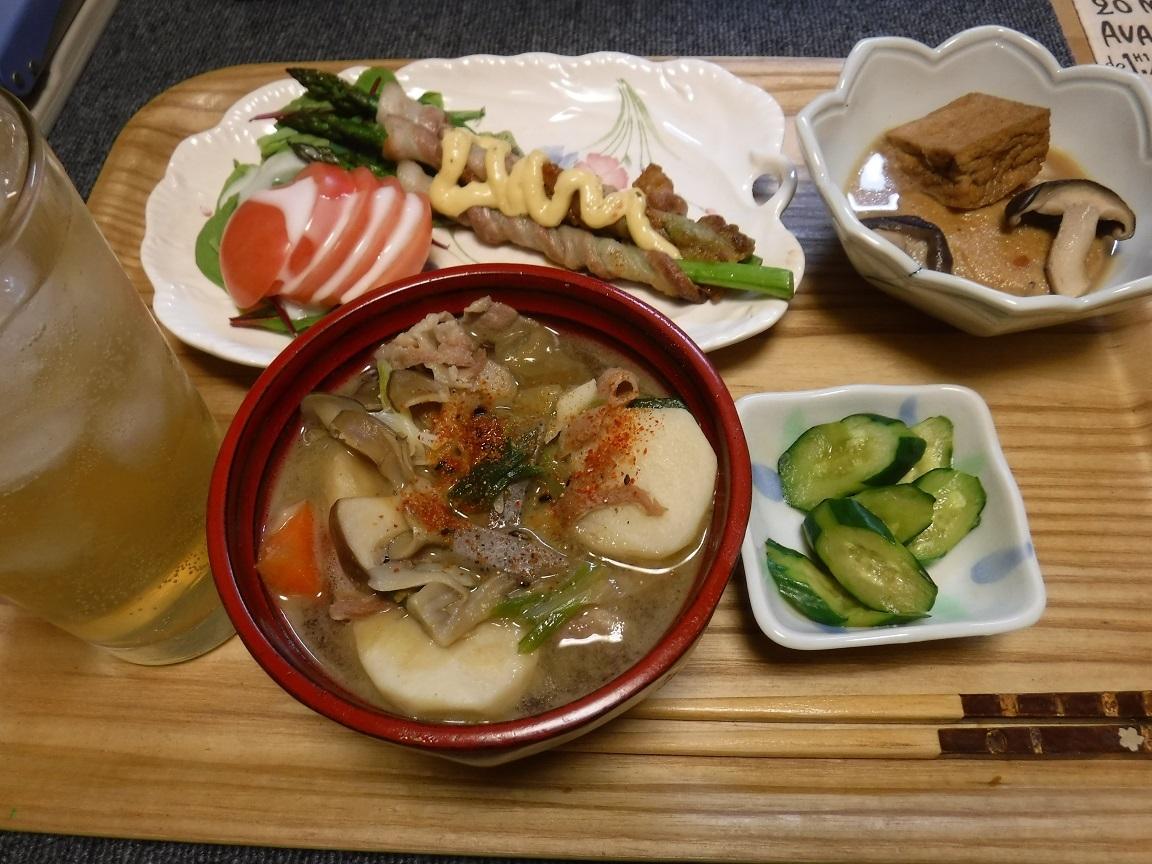 ブログ 夕食のトン汁定食.jpg