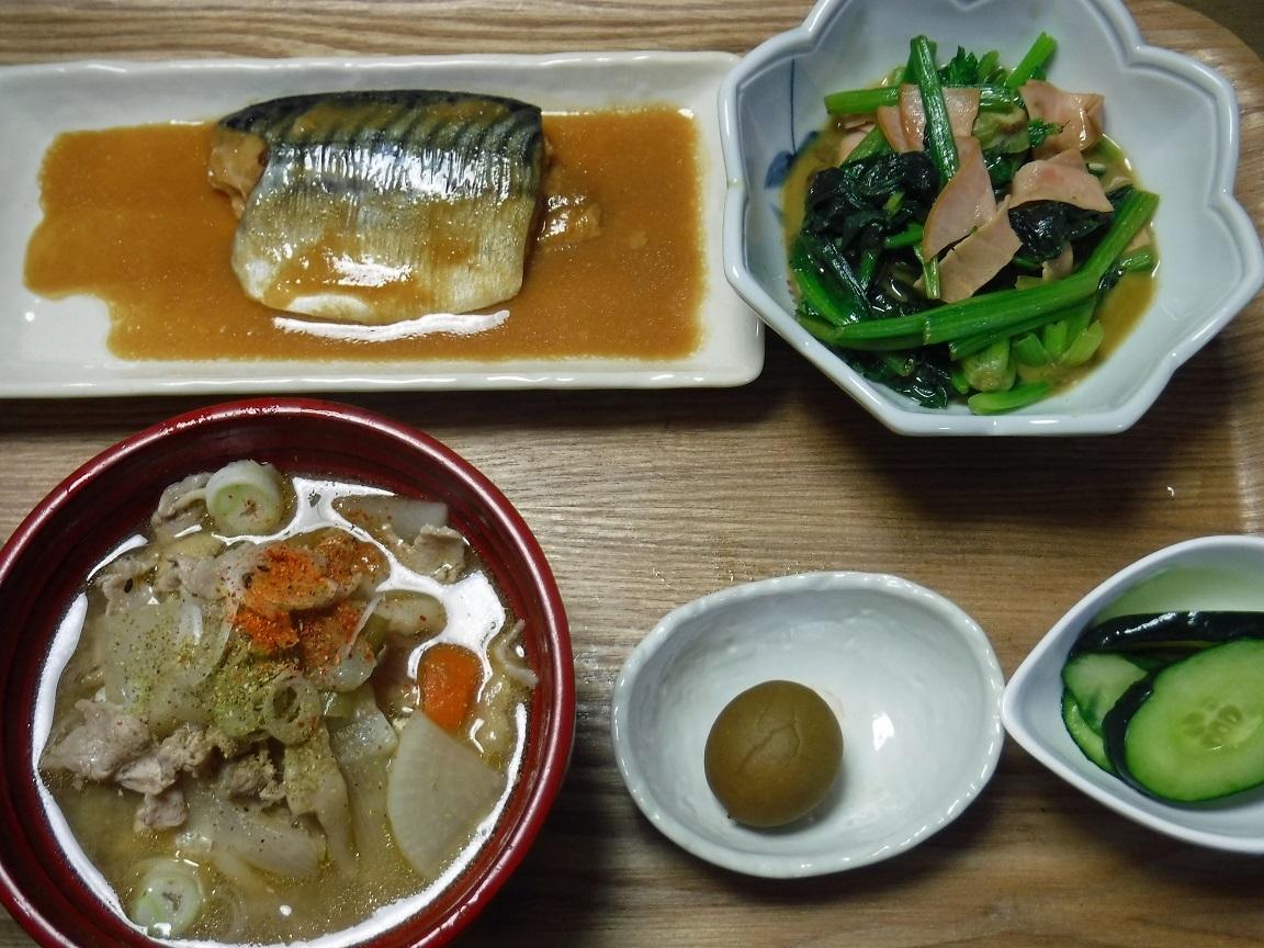 ブログ 夕食  【深夜食堂】のビデオを見たら、トン汁が食べたくなった.jpg