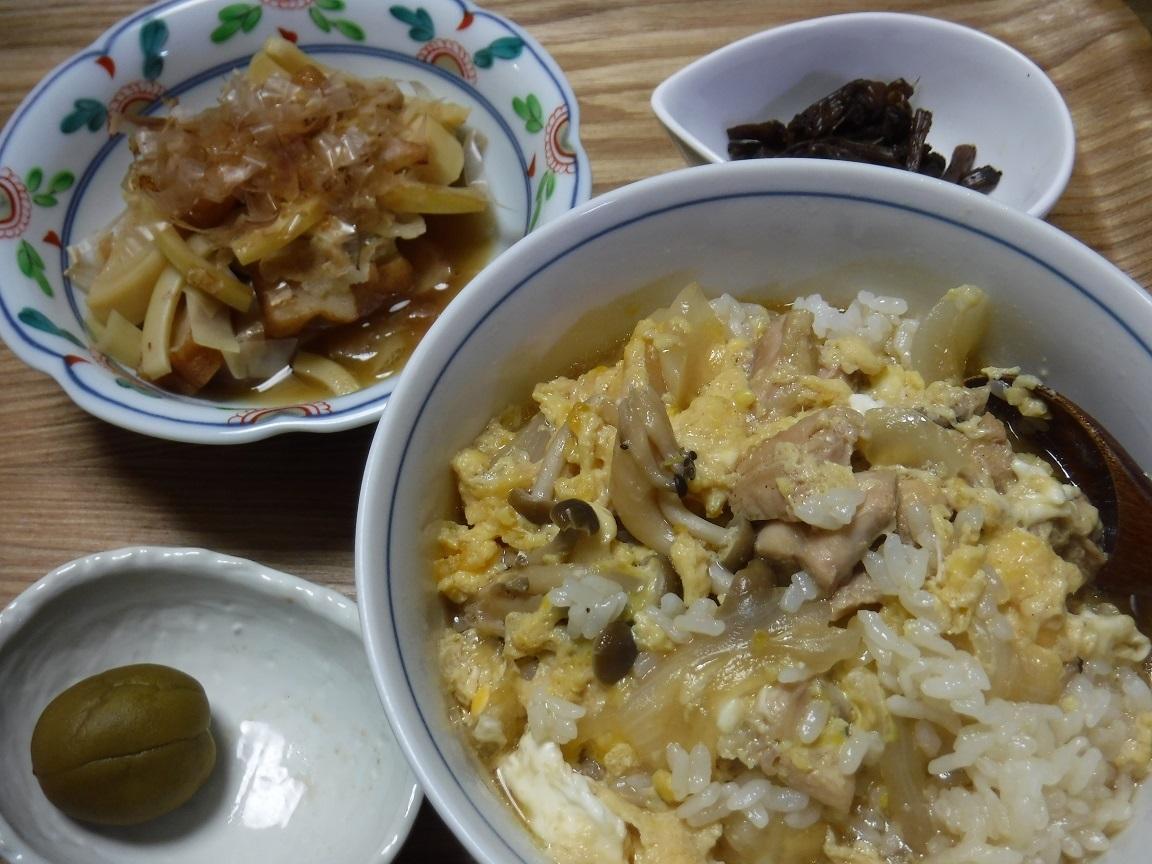ブログ 夕食  汁だくな親子丼.jpg