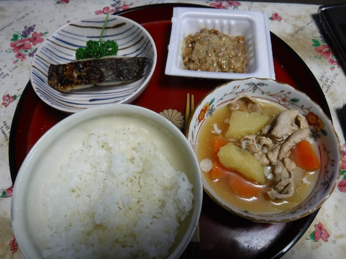 ブログ 朝食 昨日の残りで.jpg