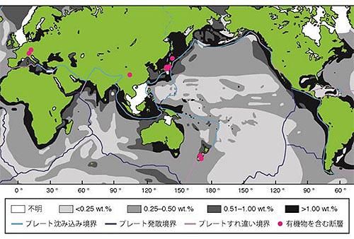 断層に含まれる有機物と地震発生メカニズム
