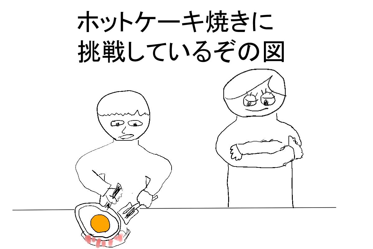 ホットケーキ作るぅ