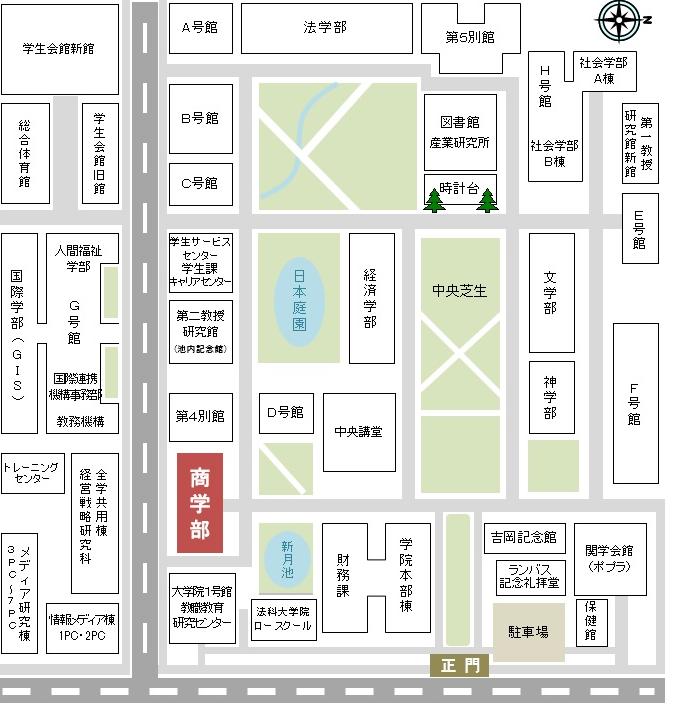 関学上ヶ原キャンパス地図