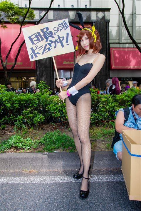 涼宮ハルヒ バニー ゆーじ コスプレ 1