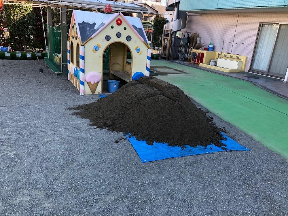 ヘキサゴン様板橋区幼稚園細目砂1立米