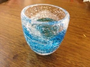 2019夏親子で吹きガラス体験 人魚の泡グラス