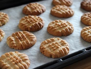ピーナッツバタークッキー焼き上がり