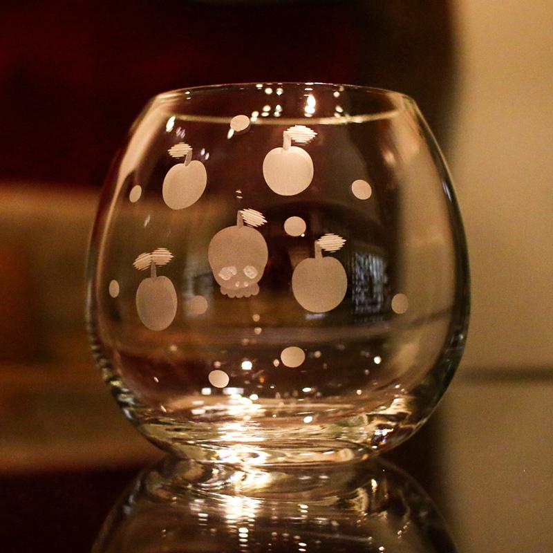 神谷麻理子 切子 グラス 骸骨 髑髏 大田区 池上 パンタレイ pantarheicraft ガラス