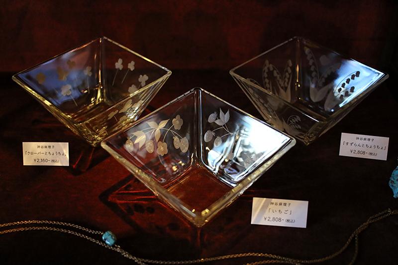 大田区 池上 パンタレイ panta rhei ギャラリー 切子 ガラス 皿 器 グラス 神谷麻理子 苺 いちご