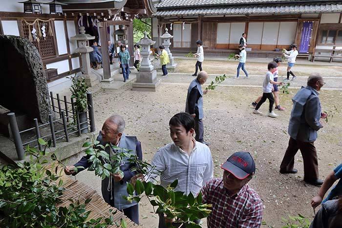 桃香野八幡神社 弁天一万度祭4