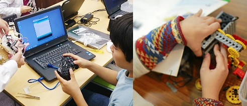 ヒューマンアカデミーロボット教室の授業風景