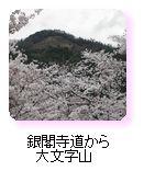 銀閣寺道から大文字山