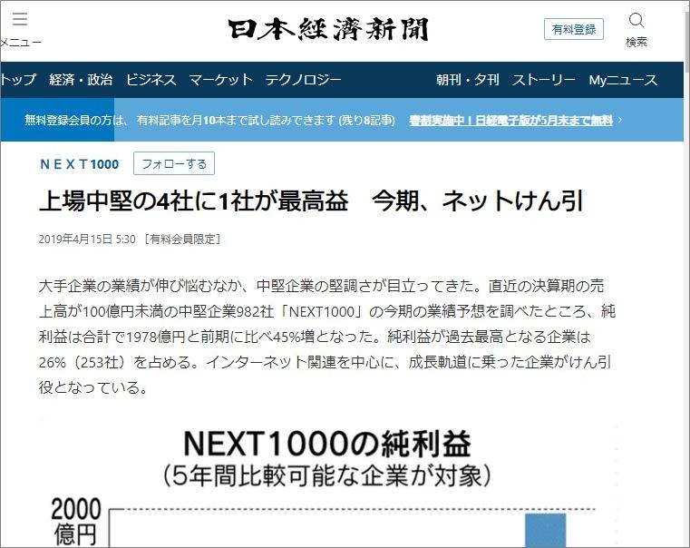オーナーズブック日経新聞で紹介