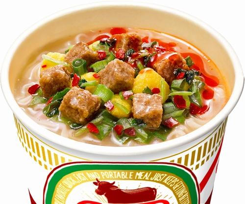 パクチー&辣油の「カップヌードル 蘭州牛肉麺」発売