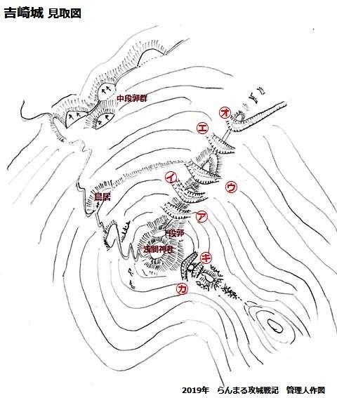 吉崎城見取図①