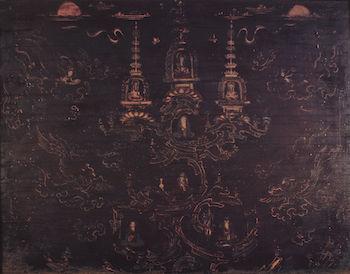 6宮殿部背面(霊鷲山図)