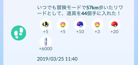 リワード結果(57km)