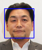 OpenCVで顔検出結果1