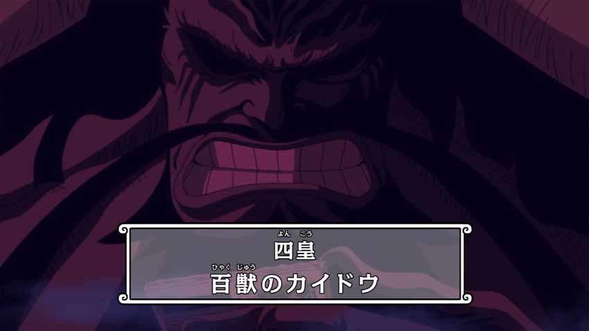 ワンピース カイドウ アニメ 879話