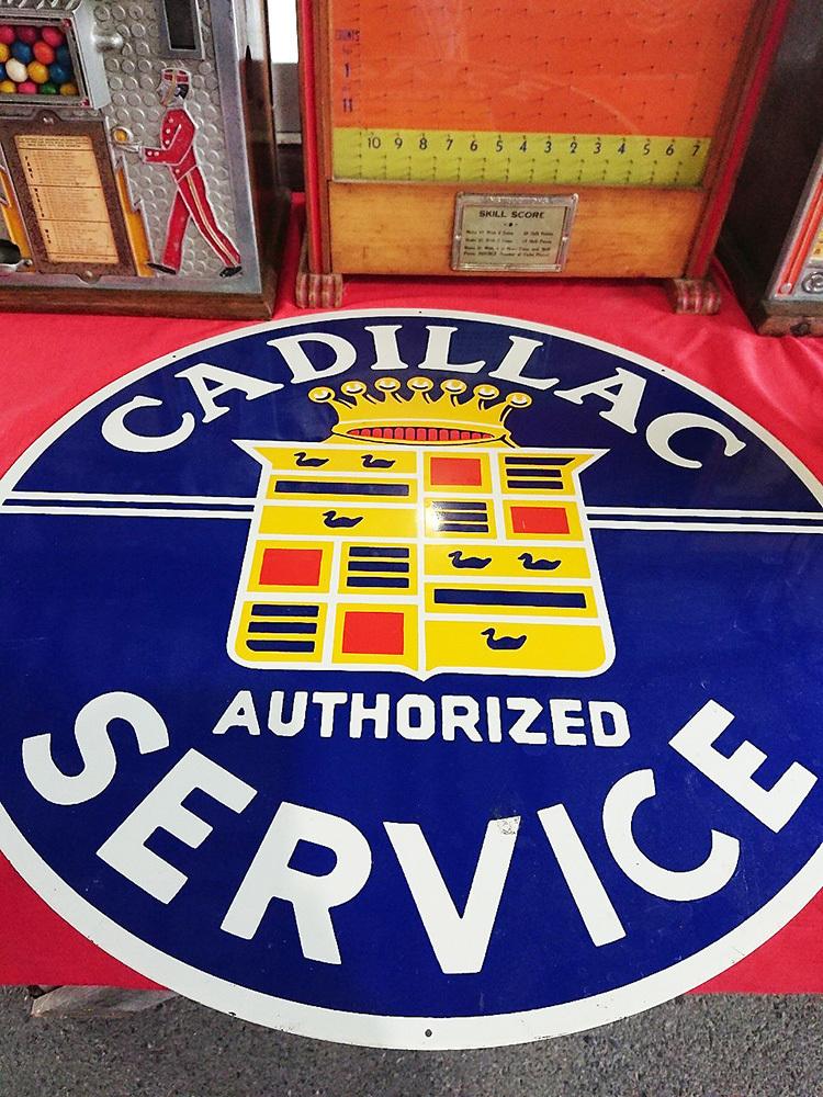 1905 アメリカ買付 Cadillac service porcelain old sign