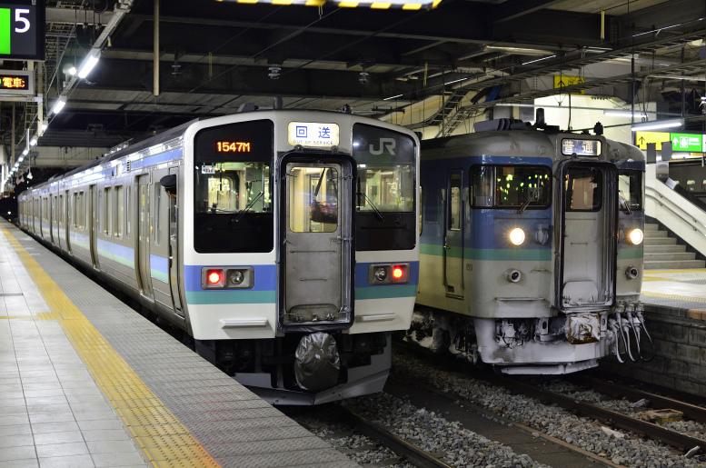 1/9-10 189系おはようライナーに乗りに行く その3(長野→平田) 夜の長野駅にて