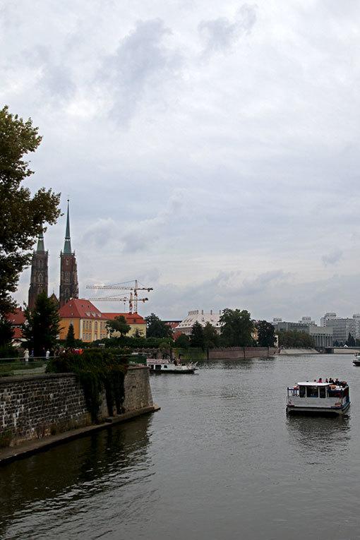 ヴロツワフ 川沿い