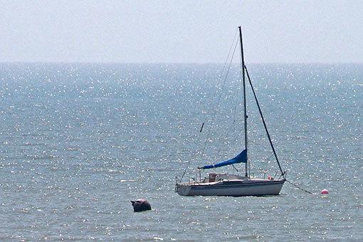モンサンミシェル湾 小舟