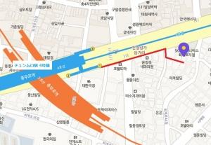 青春一番街地図(ソウル)