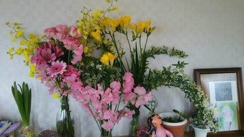 ババの退職祝いの花束