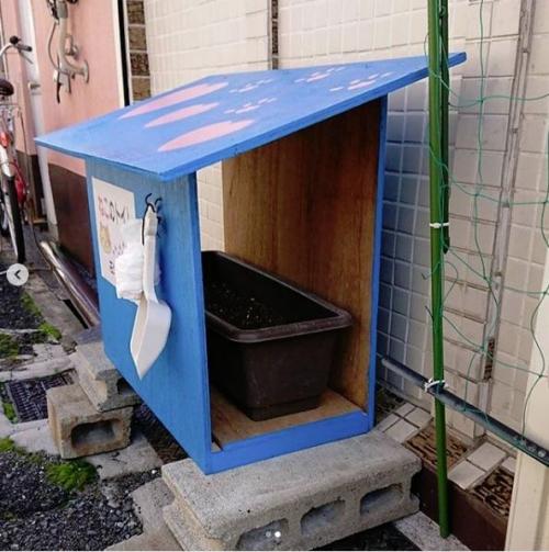 野良猫用トイレ002